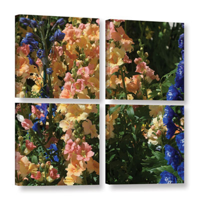 Brushstone Vibrance 4-pc. Square Floater Framed Canvas Wall Art
