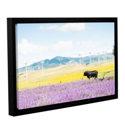 Brushstone The Black Bull And Giants Gallery Wrapped Floater-Framed Canvas Wall Art