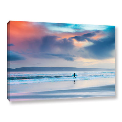 Brushstone Surfer Girl Strides Gallery Wrapped Canvas Wall Art