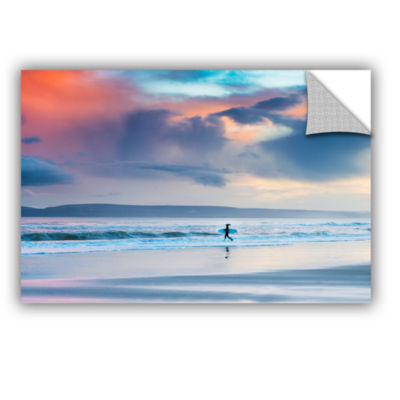 Brushstone Surfer Girl Strides Removable Wall Decal