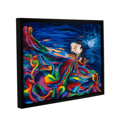 Brushstone The Embrace Gallery Wrapped Floater-Framed Canvas Wall Art