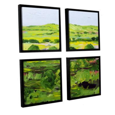 Brushstone Wakefield 4-pc. Floater Framed Canvas Sqare Set