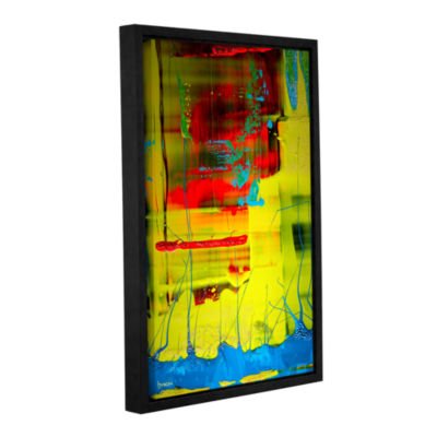 Brushstone Suspended Gallery Wrapped Floater-Framed Canvas Wall Art