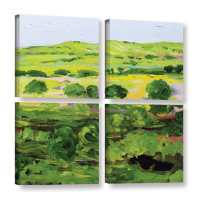 Brushstone Wakefield 4-pc. Square Floater Framed Canvas Wall Art