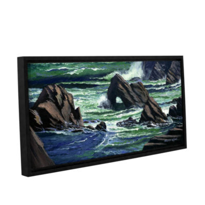 Brushstone View From The Bluffs Gallery Wrapped Floater-Framed Canvas