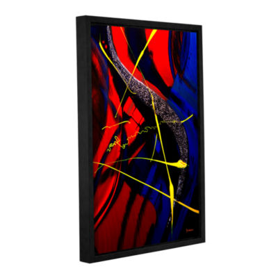 Brushstone The Abstract Musical Note Gallery Wrapped Floater-Framed Canvas Wall Art