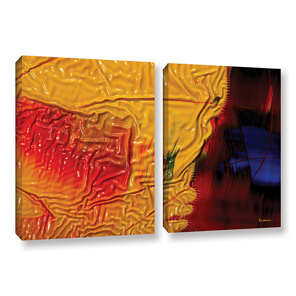 Brushstone The Approaching Storm 2-pc. Gallery Wrapped Canvas Wall Art