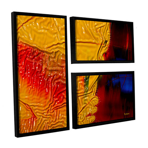 Brushstone The Approaching Storm 3-pc. Flag Floater Framed Canvas Wall Art