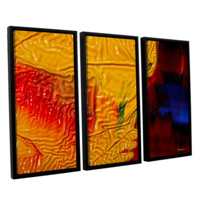 Brushstone The Approaching Storm 3-pc. Floater Framed Canvas Wall Art
