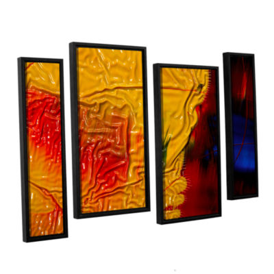 Brushstone The Approaching Storm 4-pc. Floater Framed Staggered Canvas Wall Art
