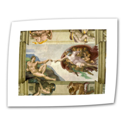 Brushstone The Creation Of Adam Canvas Wall Art
