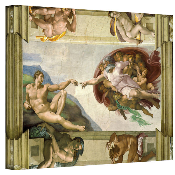 Brushstone The Creation Of Adam Gallery Wrapped Canvas Wall Art