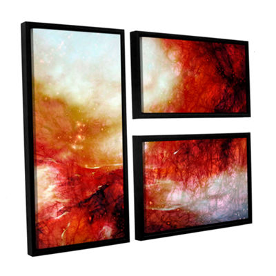 Brushstone Universe 3-pc. Flag Floater Framed Canvas Art