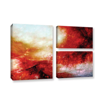 Brushstone Universe 3-pc. Gallery Wrapped Canvas Flag Set