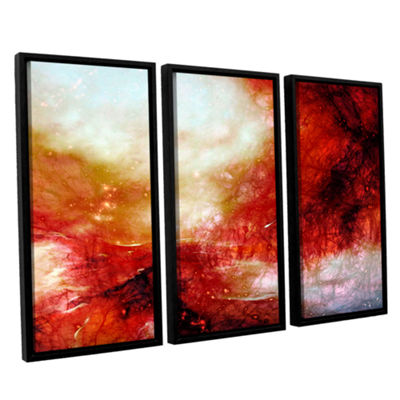 Brushstone Universe 3-pc. Floater Framed Canvas Wall Art