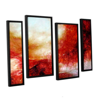 Brushstone Universe 4-pc. Floater Framed Canvas Staggered Set
