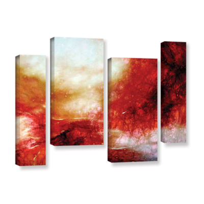 Brushstone Universe 4-pc. Gallery Wrapped Canvas Staggered Set