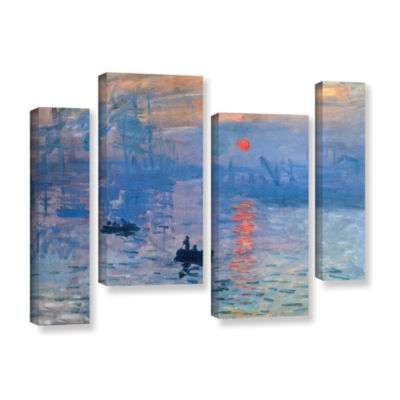 Brushstone Sunrise 4-pc. Gallery Wrapped Staggered Canvas Wall Art