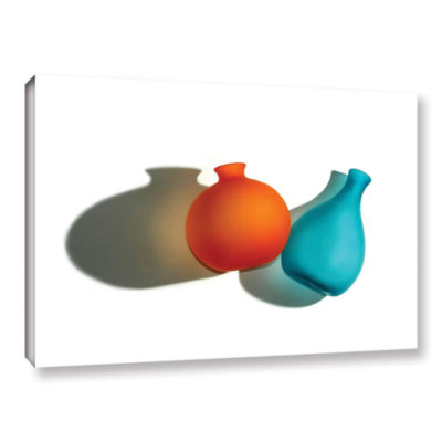 Brushstone Two Vases Gallery Wrapped Canvas