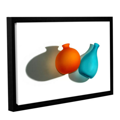 Brushstone Two Vases By Dan Holm Gallery Wrapped Floater-Framed Canvas Wall Art