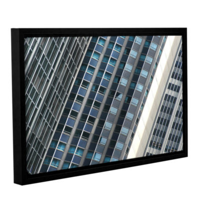 Brushstone Urban Abstract Gallery Wrapped Floater-Framed Canvas