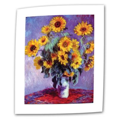 Brushstone Sunflowers (bouquet) Canvas Wall Art