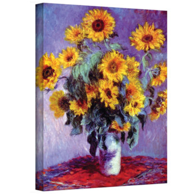 Brushstone Sunflowers (bouquet) Gallery Wrapped Canvas Wall Art