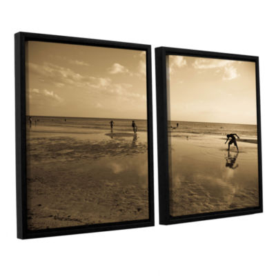 Brushstone Water Steps 2-pc. Floater Framed CanvasSet