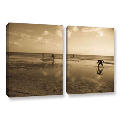 Brushstone Water Steps 2-pc. Gallery Wrapped Canvas Set