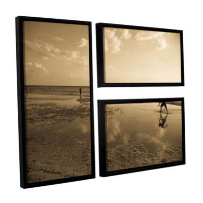 Brushstone Water Steps 3-pc. Flag Floater Framed Canvas Art