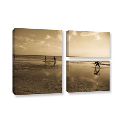 Brushstone Water Steps 3-pc. Gallery Wrapped Canvas Flag Set