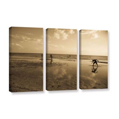 Brushstone Water Steps 3-pc. Gallery Wrapped Canvas Set