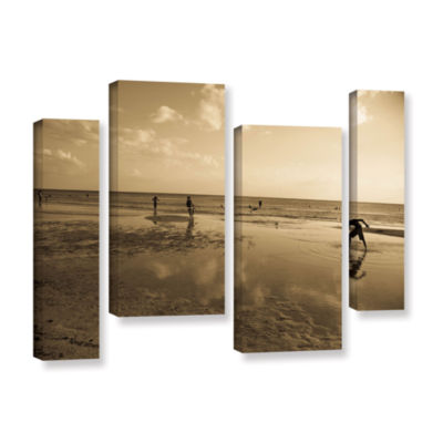 Brushstone Water Steps 4-pc. Gallery Wrapped Staggered Canvas Wall Art