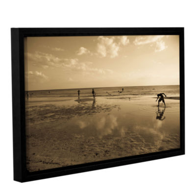 Brushstone Water Steps Gallery Wrapped Floater-Framed Canvas