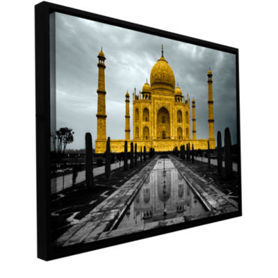 Brushstone Taj Mahal Gallery Wrapped Floater-Framed Canvas Wall Art