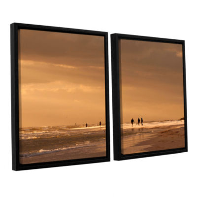 Brushstone Walkers Siesta Key 2-pc. Floater FramedCanvas Wall Art