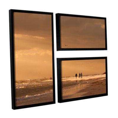 Brushstone Walkers Siesta Key 3-pc. Floater FramedCanvas Flag Set