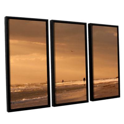 Brushstone Walkers Siesta Key 3-pc. Floater FramedCanvas Set