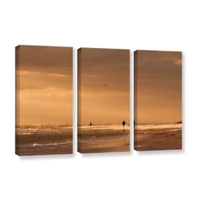 Brushstone Walkers Siesta Key 3-pc. Gallery Wrapped Canvas Set