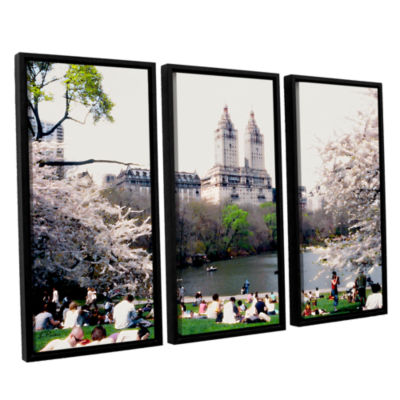 Brushstone The Dakota And Central Park 3-pc. Floater Framed Canvas Wall Art