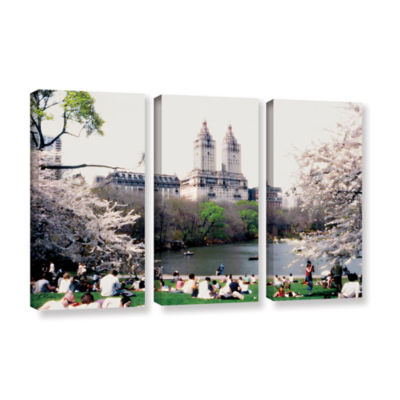 Brushstone The Dakota And Central Park 3-pc. Gallery Wrapped Canvas Wall Art