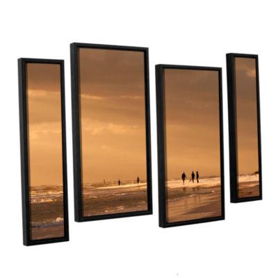 Brushstone Walkers Siesta Key 4-pc. Floater FramedStaggered Canvas Wall Art