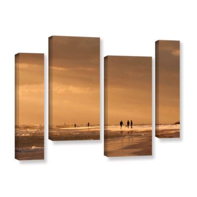 Brushstone Walkers Siesta Key 4-pc. Gallery Wrapped Staggered Canvas Wall Art