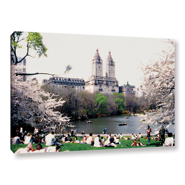 Brushstone The Dakota And Central Park Gallery Wrapped Canvas Wall Art