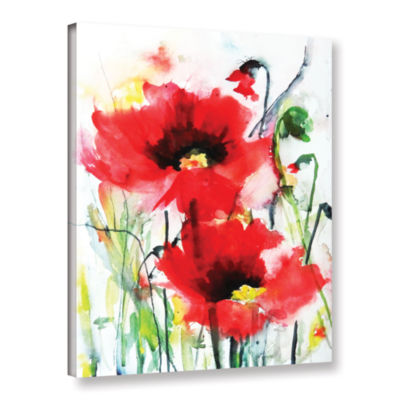 Brushstone Two Poppies Gallery Wrapped Canvas WallArt