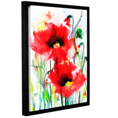 Brushstone Two Poppies Gallery Wrapped Floater-Framed Canvas Wall Art