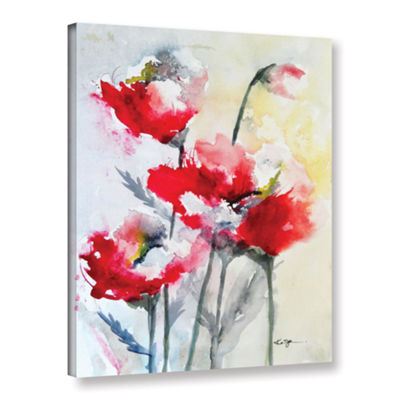 Brushstone Vibrant Poppies Gallery Wrapped CanvasWall Art