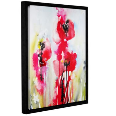 Brushstone Vivid Blossoms Gallery Wrapped Floater-Framed Canvas Wall Art