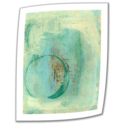 Brushstone Teal Enso Canvas Wall Art