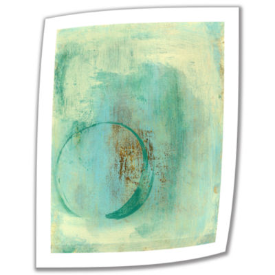 Brushstone Teal Enso Canvas Wall Art